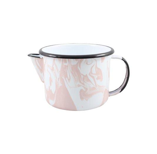 Caneca Esmaltada com Bico - nº 12 - Rosa Clara - 1000 ml (EWEL Coleção Marmorizada)
