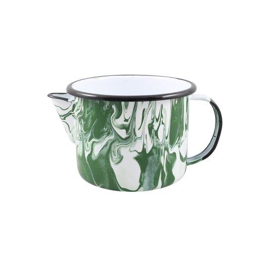 Caneca Esmaltada com Bico - nº 12 - Verde - 1000 ml (EWEL Coleção Marmorizada)