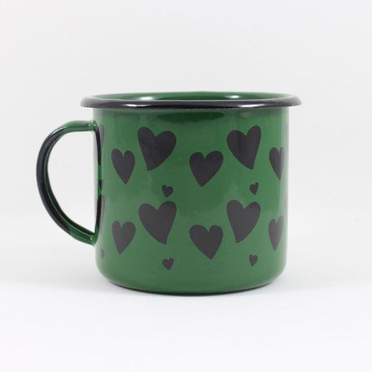 Caneca Esmaltada Coração Verde - EWEL