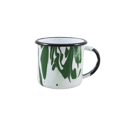 Caneca Esmaltada Verde - EWEL Coleção Marmorizada