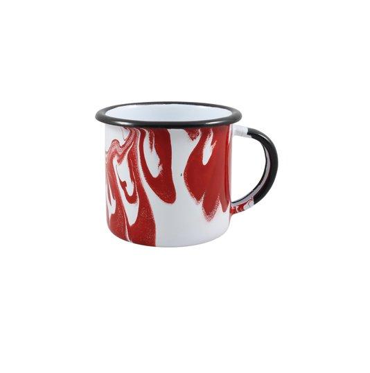 Caneca Esmaltada Vermelha - EWEL Coleção Marmorizada
