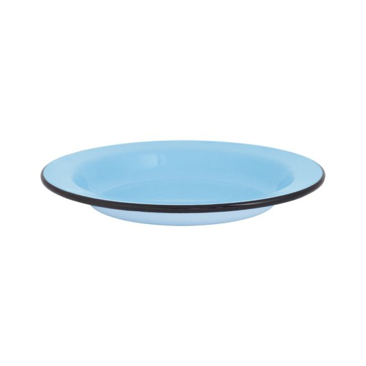 Prato Esmaltado Fundo - nº 22 - Azul Claro - 500 ml (EWEL)