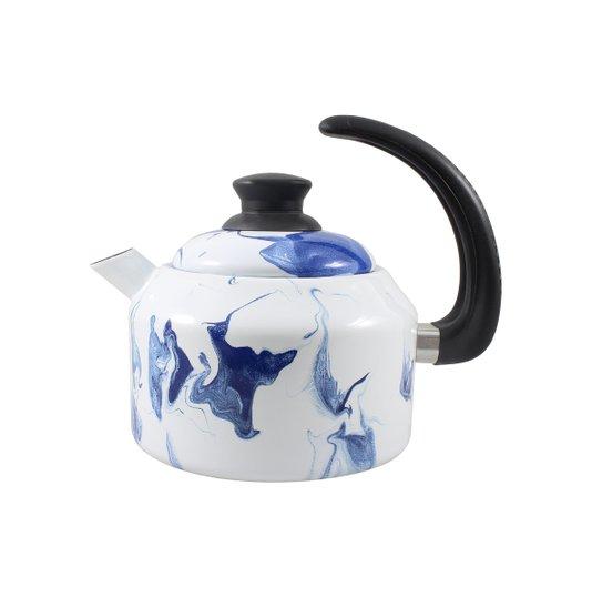 Chaleira Esmaltada - nº 14 - Azul - 1500 ml (EWEL Coleção Marmorizada)