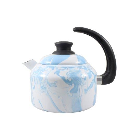 Chaleira Esmaltada - nº 14 - Azul Claro - 1500 ml (EWEL Coleção Marmorizada)