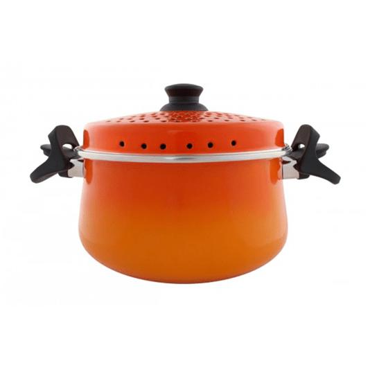 Espagueteira Esmaltada - Bojuda - nº 24 - Laranja - 4600 ml (EWEL)