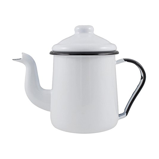 Cafeteira Esmaltada Tradicional - nº 12 - Branca - 1100 ml (EWEL)