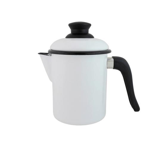 Leiteira Esmaltada - nº 10 - Branco - 900 ml (EWEL)