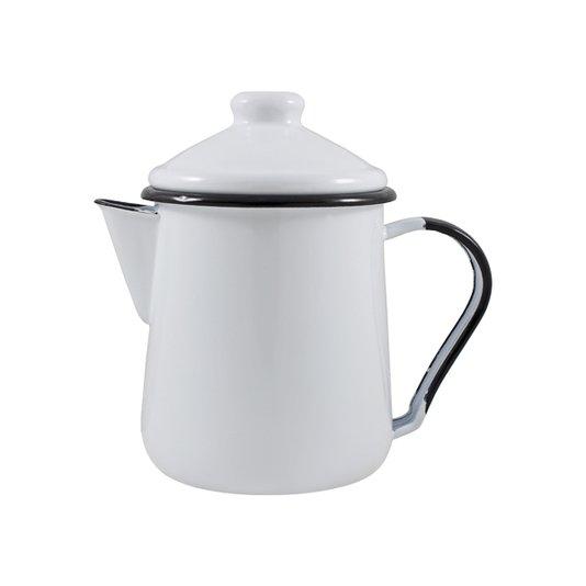 Leiteira Esmaltada Tradicional - nº 12 - Branca - 1000 ml (EWEL)