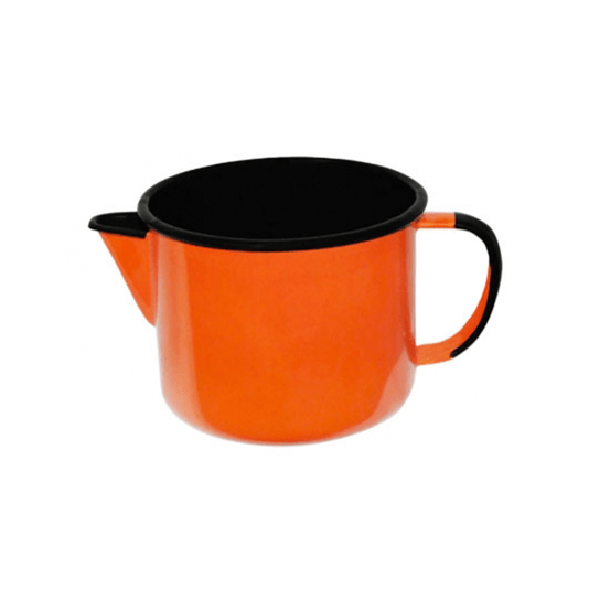 Caneca Esmaltada com Bico - nº 12 - Laranja - 1000 ml (EWEL)