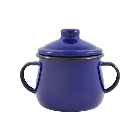 Açucareiro Esmaltado - n° 8 - Azul - 380 ml (EWEL)