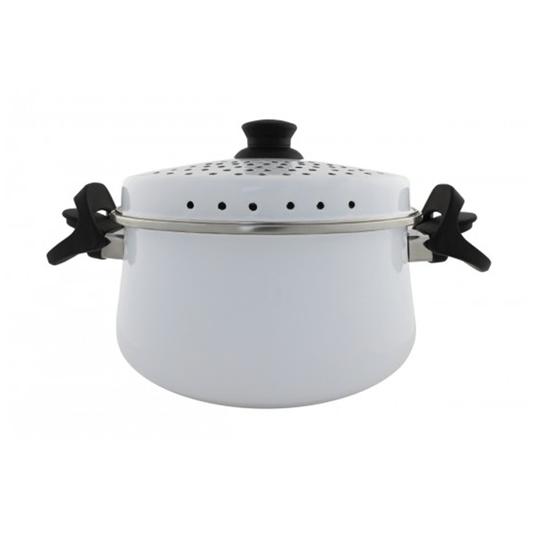 Espagueteira Esmaltada - Bojuda - nº 24 - Branca - 4600 ml (EWEL)