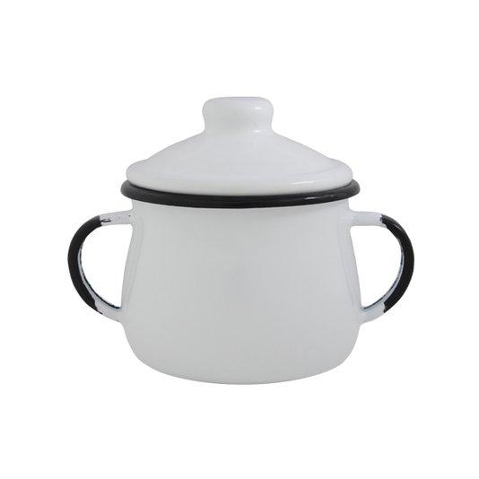 Açucareiro Esmaltado - n° 8 - Branco - 380 ml (EWEL)