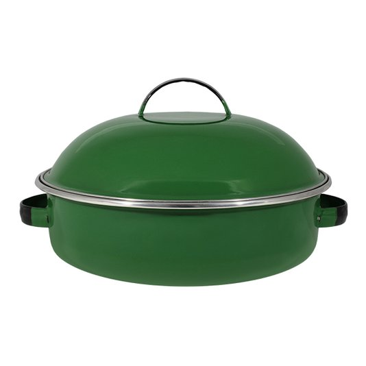 "Fritadeira Multiuso Esmaltada ""COM TAMPA"" - nº 26 - Verde - 4000 ml (EWEL)"