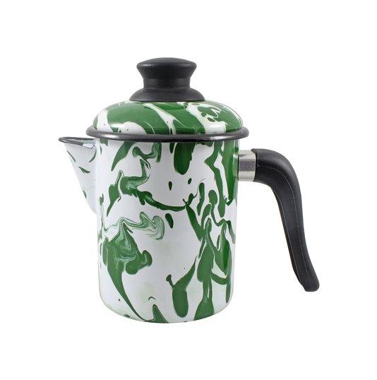 Leiteira Esmaltada - nº 10 - Verde - 900 ml (EWEL Coleção Marmorizada)
