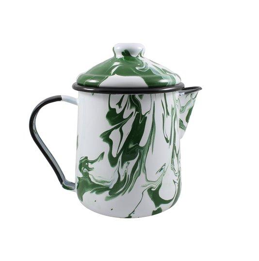 Leiteira Esmaltada Tradicional - nº 12 - Verde - 1000 ml (EWEL Coleção Marmorizada)