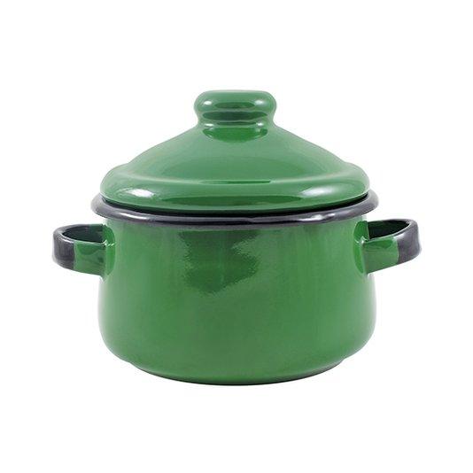 Mini Caçarola Esmaltada com Alça - nº 10 - Verde - 500 ml (EWEL)