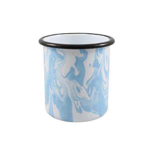 Porta Canetas Azul Claro - EWEL Coleção Marmorizada