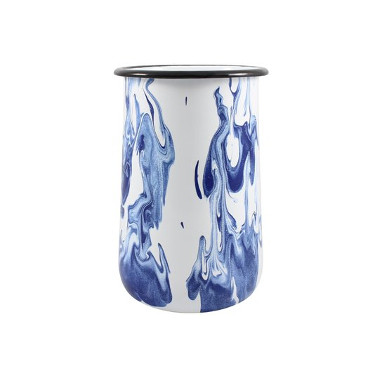 Porta Utensílios G - Azul (EWEL Coleção Marmorizada)