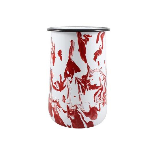 Porta Utensílios G - Vermelho (EWEL Coleção Marmorizada)