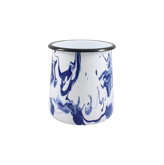 Porta Utensílios P - Azul (EWEL Coleção Marmorizada)