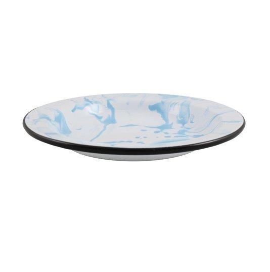 Prato Esmaltado Fundo - nº 22 - Azul Claro - 500 ml (EWEL Coleção Marmorizada)
