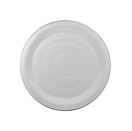 Prato Esmaltado para bolo Branco - EWEL