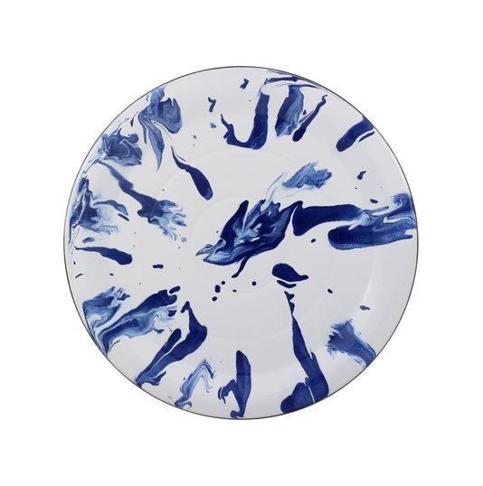 Prato Esmaltado para bolo  - nº 32 - Azul - 700 ml (EWEL Coleção Marmorizada)