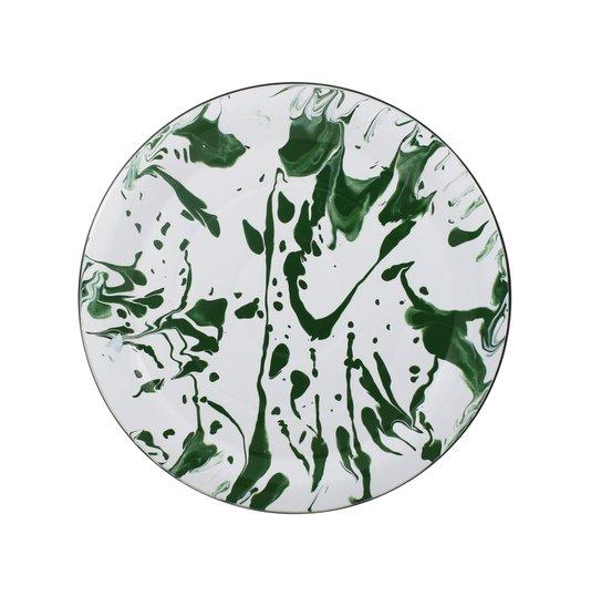 Prato Esmaltado para bolo  - nº 32 - Verde - 700 ml (EWEL Coleção Marmorizada)