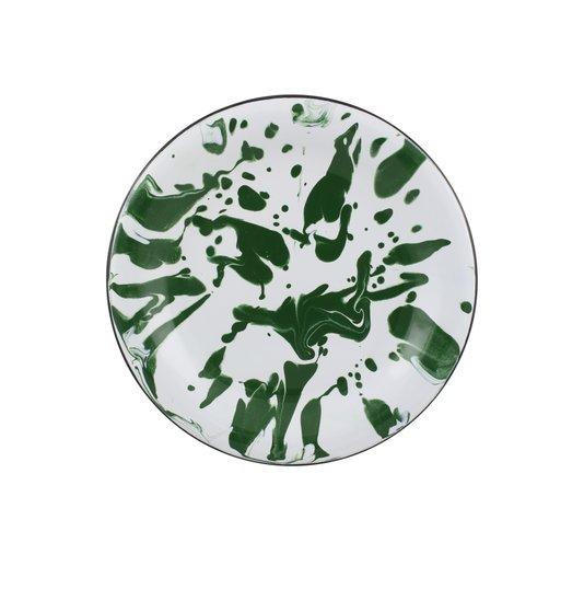Prato Esmaltado para sobremesa - nº 20 - Verde - 250 ml (EWEL Coleção Marmorizada)