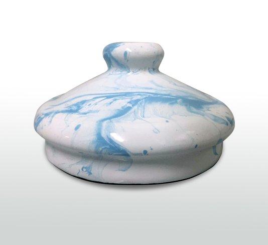 Tampa Pomel Esmaltado - Azul Claro Marmorizado