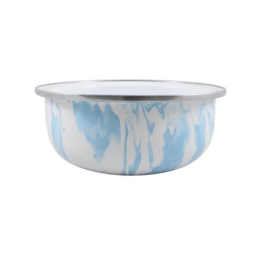 Tigela Esmaltada Azul Claro - EWEL Coleção Marmorizada
