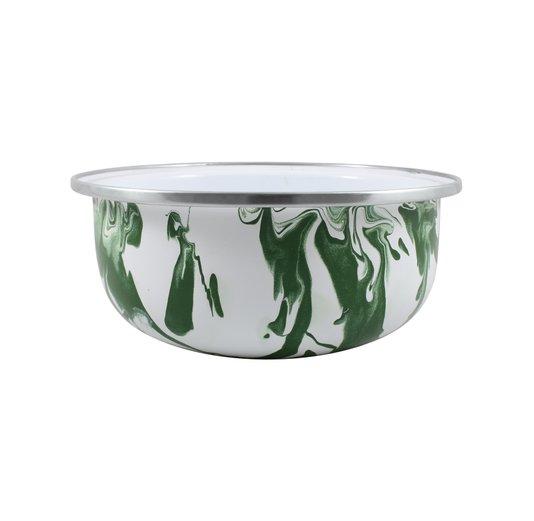 Tigela Esmaltada Verde - EWEL Coleção Marmorizada