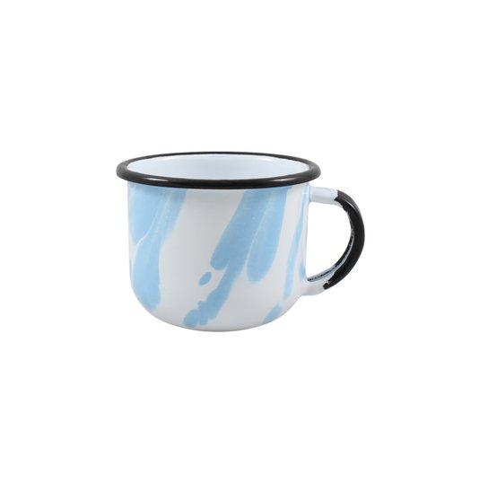 Xícara Esmaltada Azul Claro - EWEL Coleção Marmorizada
