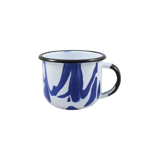 Xícara Esmaltada Azul - EWEL Coleção Marmorizada