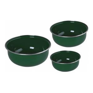 Conjunto de Tigela Esmaltadas – 03 pçs – Verde (EWEL)