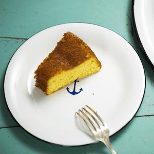 Prato Esmaltado para sobremesa - nº 20 - Branco Ancora - 250ml (À LA GARÇONNE + EWEL)