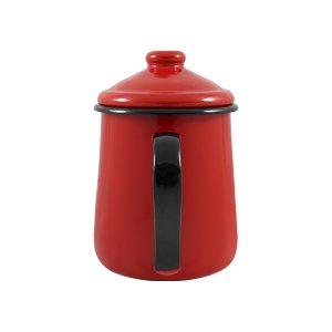 Leiteira Esmaltada Tradicional - nº 12 - Vermelha - 1000 ml (EWEL)