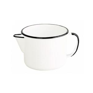 Caneca Esmaltada com Bico - nº 12 - Branca - 1000 ml (EWEL)