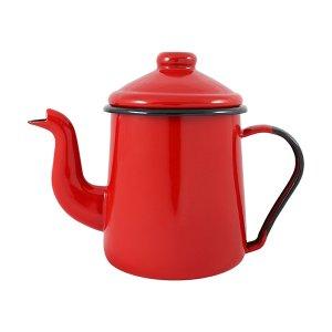 Cafeteira Esmaltada Tradicional - nº 12 - Vermelha - 1000 ml (EWEL)