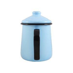 Leiteira Esmaltada Tradicional - nº 12 - Azul Claro - 1000 ml (EWEL)