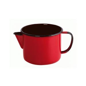 Caneca Esmaltada com Bico - nº 12 - Vermelha - 1000 ml (EWEL)