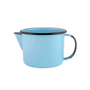 Caneca Esmaltada com Bico - nº 12 - Azul Claro - 1000 ml (EWEL)
