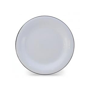 Prato Esmaltado Raso - nº 26 - Branco - 900 ml (EWEL)