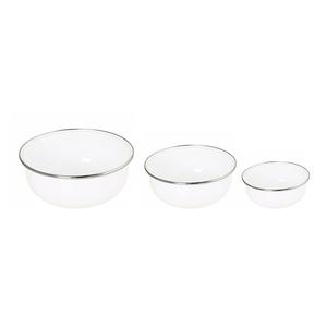 Conjunto de Tigela Esmaltadas – 03 pçs – Branco (EWEL)