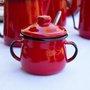 Açucareiro Esmaltado - n° 8 - Vermelho - 380 ml (EWEL)