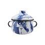 Açucareiro Esmaltado - nº 10 - Azul - 500 ml (EWEL Coleção Marmorizada)