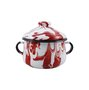 Açucareiro Esmaltado - nº 10 - Vermelho - 500 ml (EWEL Coleção Marmorizada)