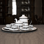 Conjunto de Café Esmaltado – 12 pçs – Branco Corrente (À LA GARÇONNE + EWEL)