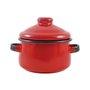 Mini Caçarola Esmaltada com Alça - nº 10 - Vermelha - 500 ml (EWEL)