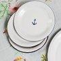 Prato Esmaltado para sobremesa - nº 20 - Branco Âncora - 250ml (À LA GARÇONNE + EWEL)
